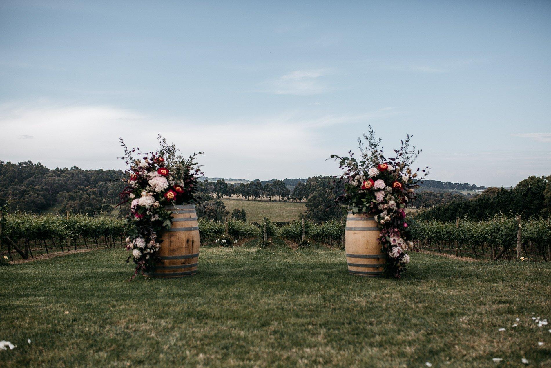 bride and groom Panton Vineyard wedding fern and sone photography red hill wedding