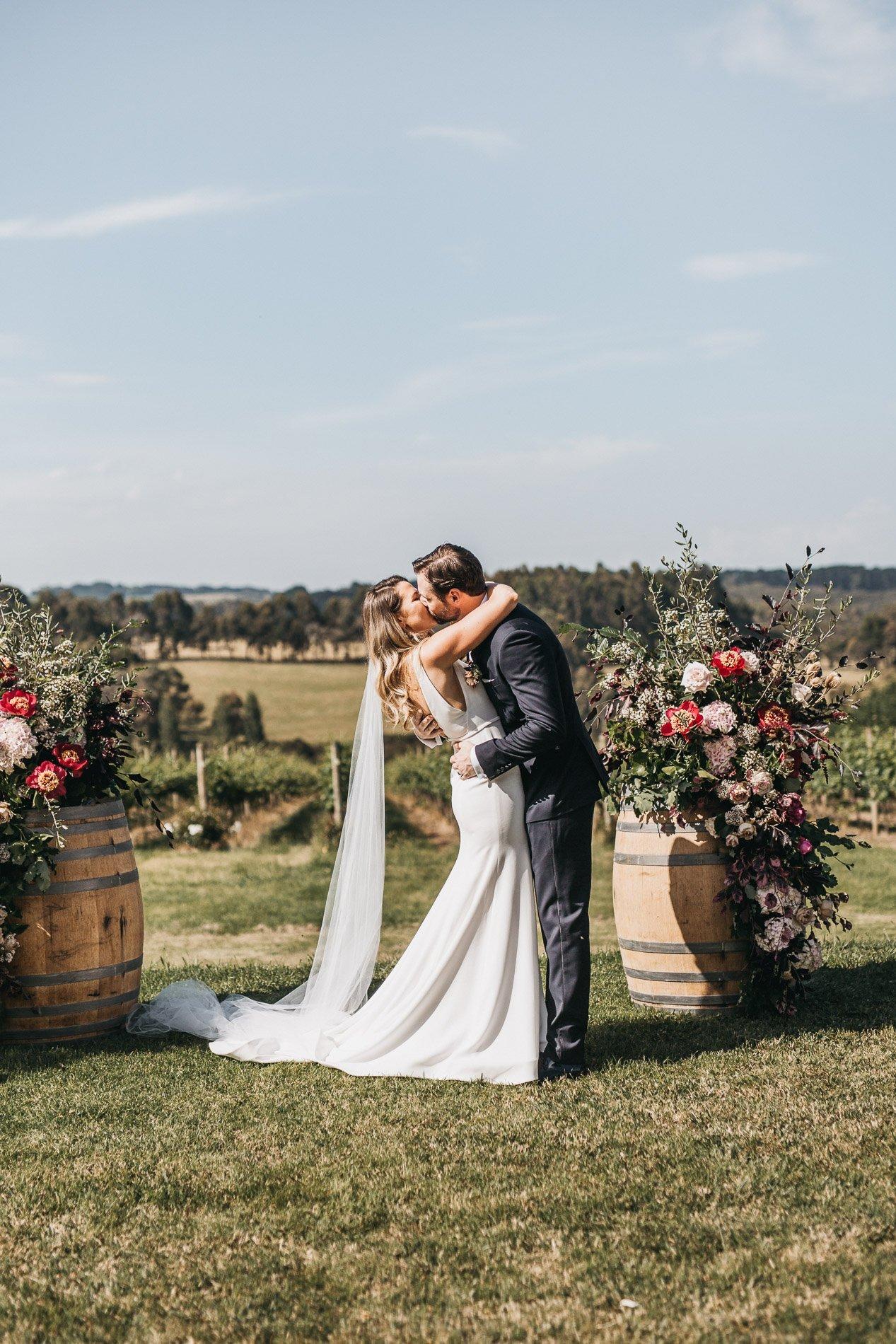 first kiss red hill wedding